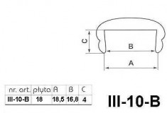 Профиль III-10-B/G C18 18мм