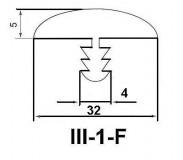 Профиль III-1-F T32 F23 32мм